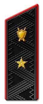 Погоны Юстиция ВМФ генерал-майор повседневные со скосом на китель