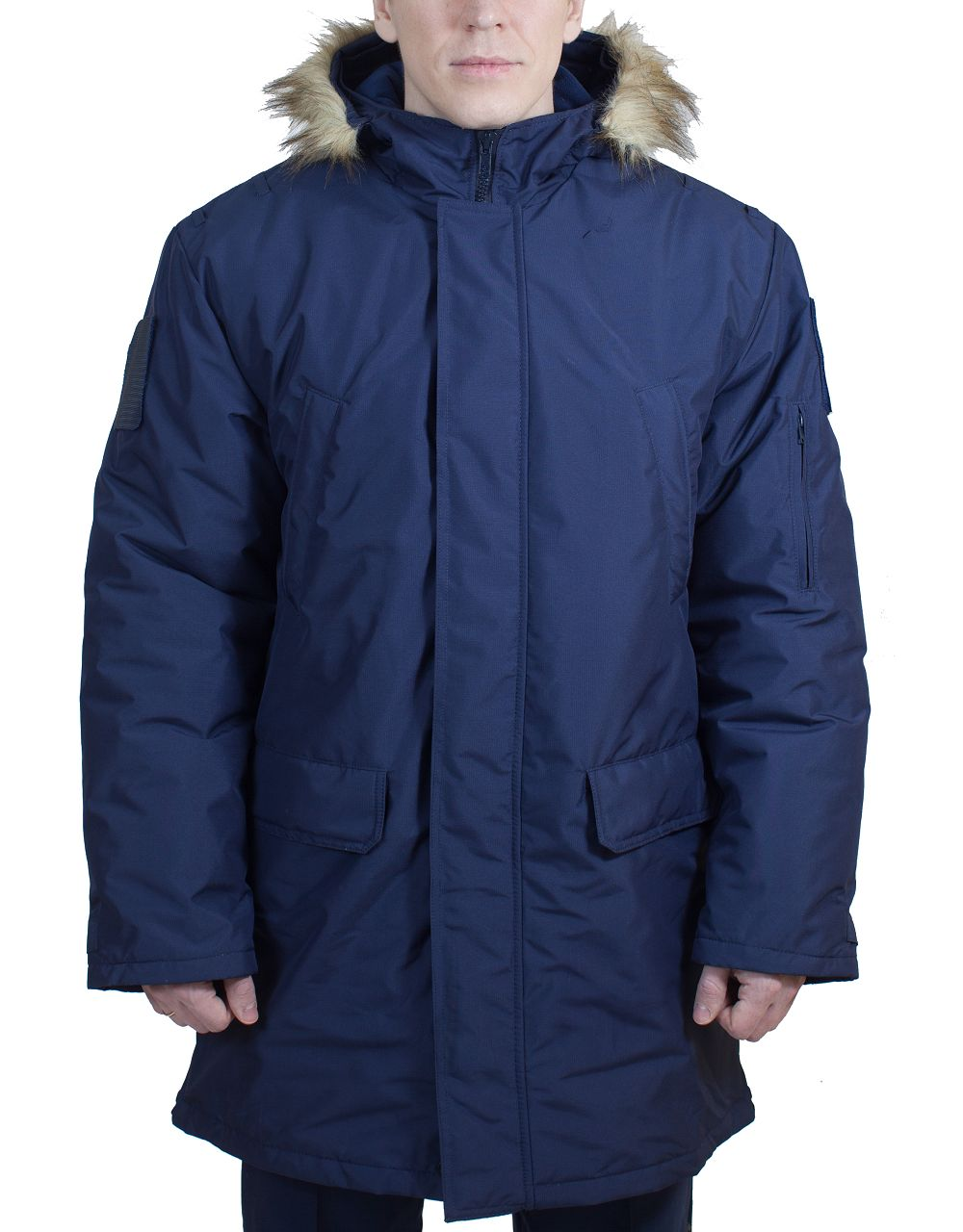 Куртка аляска (ткань рип-стоп мембрана) под офисную форму синяя