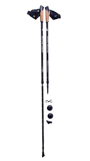 Телескопические палки KAISER SPORT, NORDIC WALKING BLACK, SL-2B-2-135 BLACK, SL-2B-2-135-b
