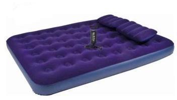 Надувная кровать RELAX FLOCKED AIR BED QUEEN насос+2подушки 203х152х22 JL021470N