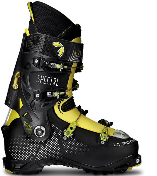 Горнолыжные ботинки SPECTRE Black/Yellow, 88E