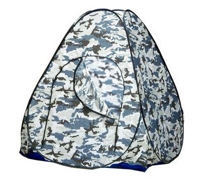 Палатка зимняя автомат 1,5х1,5 белый, камуфляж (без дна)