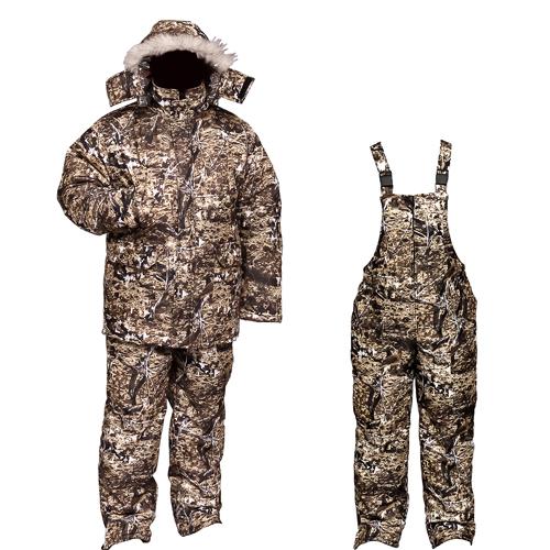 Костюм мужской Бекас зимний, подклад фольгированный, ткань мембрана, цв, камуфляж