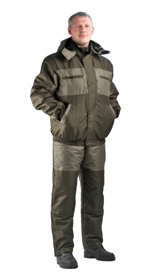 Костюм мужской Вихрь-Ямал демисезонный хаки комбинированный Кошачий глаз, подкл термостежка