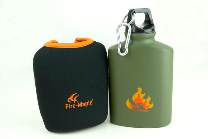 Фляга пищевая алюминиевая с термочехлом ARMY BOTTLE FMP-312, 450