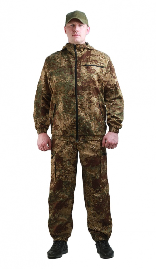 Костюм мужской Турист 1 летний, камуфляж, ткань грета Пинкод