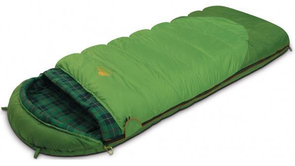Мешок спальный SIBERIA Plus зеленый, правый