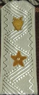 Погоны Юстиция МО генерал-майор парадные на белую рубашку