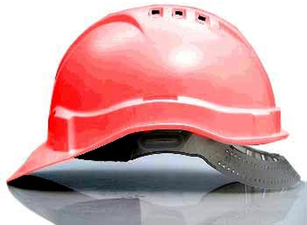Каска защитная ЩИТ (красная)