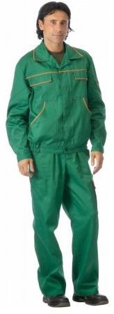 Костюм Профессионал (зеленый с СОП+желтый кант) РАСПРОДАЖА
