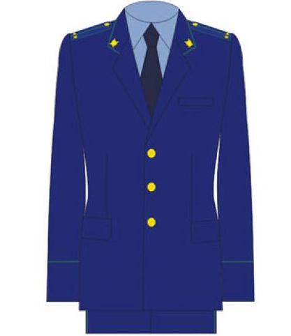 Жакет Прокуратура однобортный синий индивидуальный пошив