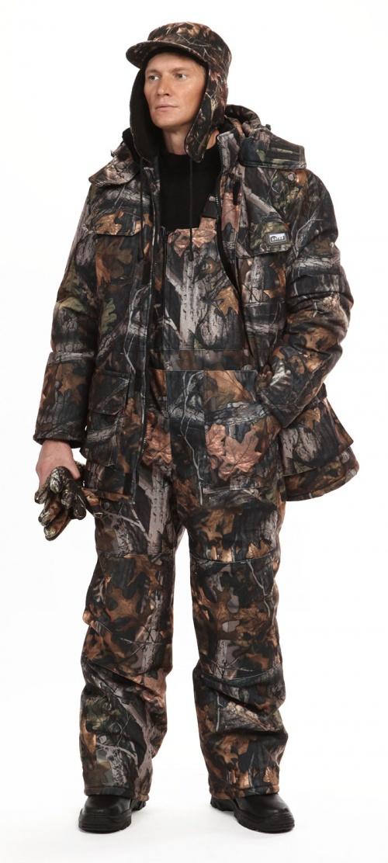 Костюм мужской Nordwig Buran зимний, камуфляж т.Алова Дубовый лес