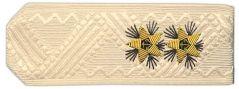 Погоны вице-адмирал ВМФ на кремовую рубашку повседневные