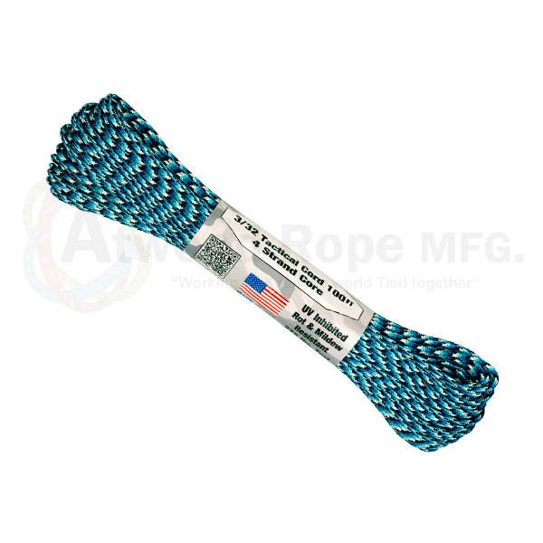 Паракорд ATWOODROPE 3/32' x 100' TACTICAL 30м blue snake