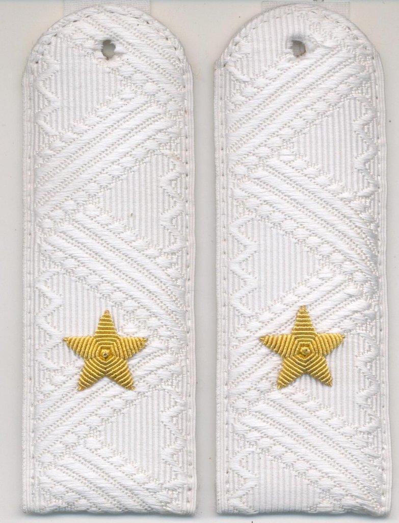 Погоны генерал-майор Полиции на белую рубашку повседневные