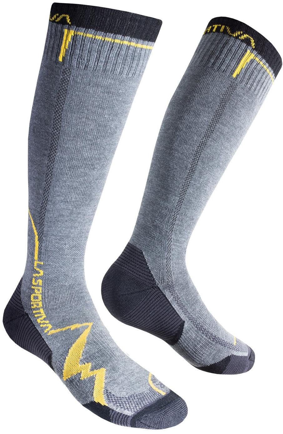 Носки MOUNTAIN SOCKS LONG Grey/Yellow, 29QGY