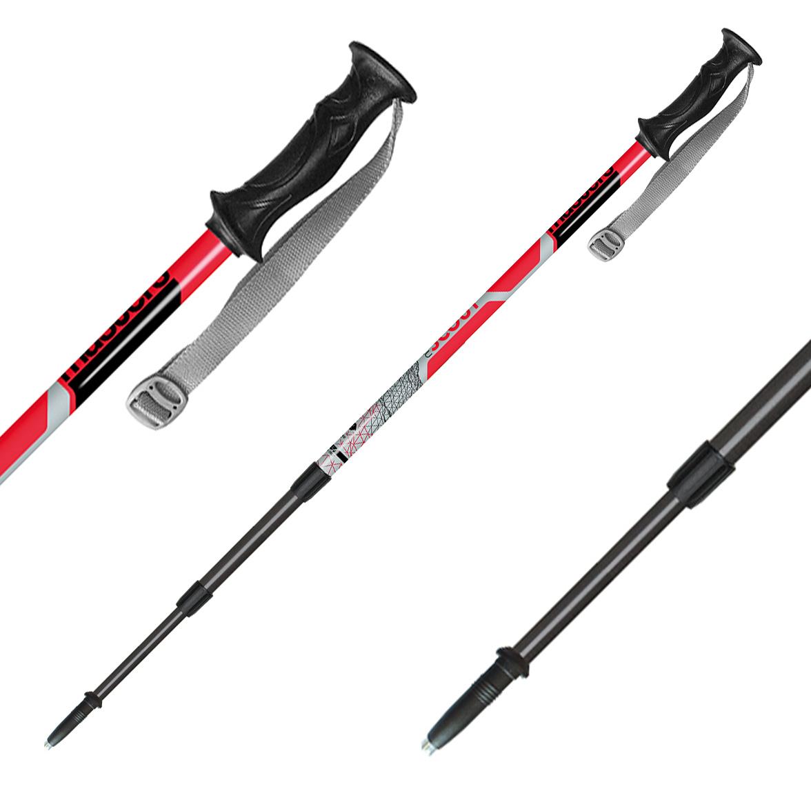 Телескопические палки, SCOUT RED, RECREATIONAL BACKPAKING СЕРИЯ 01S1716