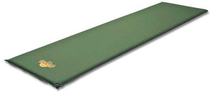Легкий самонадувающийся туристический коврик Alexika Travel 9321.3107 Olive
