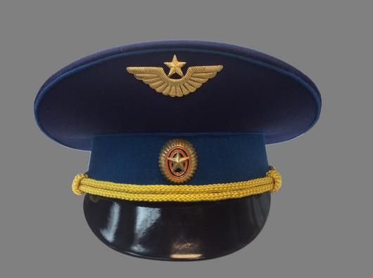 Фуражка военно-космических сил парадная уставная