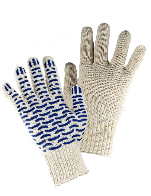 Перчатки трикотажные Аленка х/б, ПВХ Люкс-Волна
