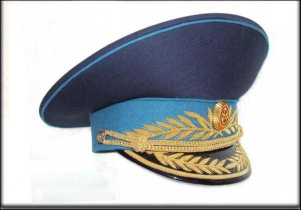 Фуражка генеральская военно-космических сил модельная метанит