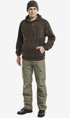 4210А толстовка мужская с капюшоном флис