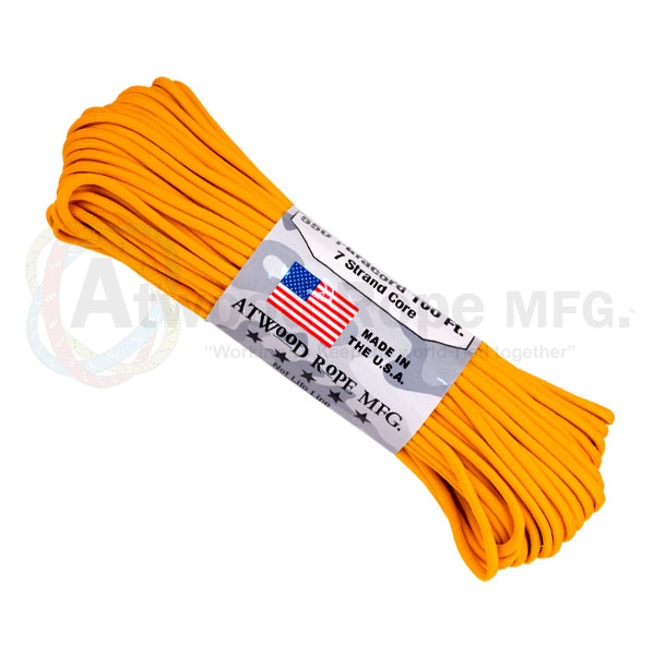 Паракорд ATWOODROPE 550 PARACHUTE CORD 30м air force gold