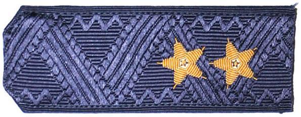Погоны генерал-лейтенант ВДВ-ВВС с хлястиком повседневные