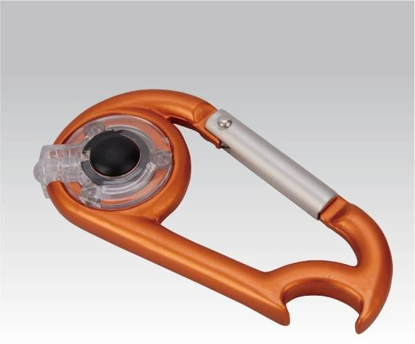 Карабинчик Фонарь-карабин с открывалкой (упак=10 шт), 1089