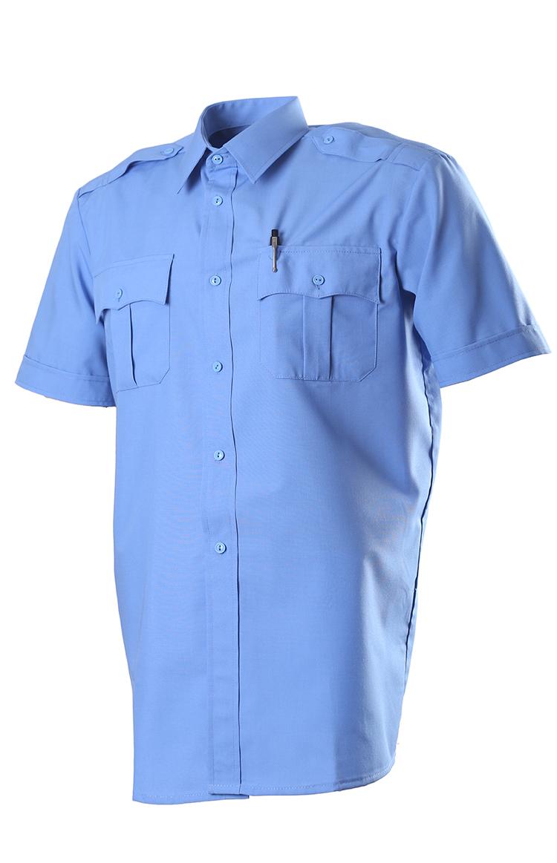 526 сорочка, короткий рукав, Сорочечная голубая