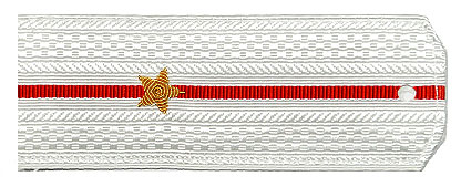 Погоны МО вышитые Младший лейтенант парадные на белую рубашку
