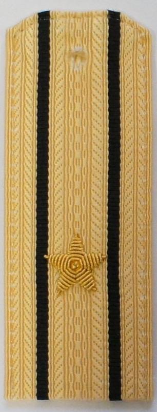 Погоны ВМФ вышитые Капитан 3 ранга повседневные на кремовую рубашку