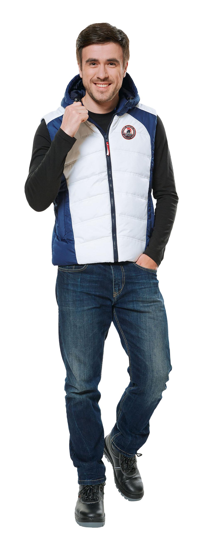 Жилет утепленный Хэдвей мужской цвет синий+белый