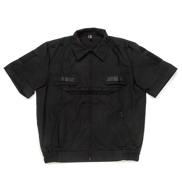 Костюм офисный черный, короткий рукав, рип-стоп