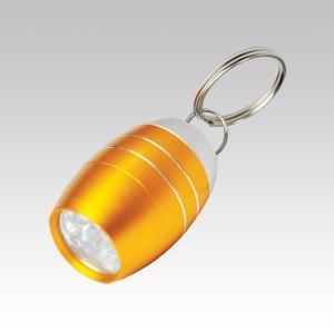 Брелок Светодиодный фонарик в виде бочки (упак=10 шт), 1082