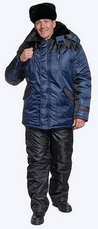 Куртка Пульсар (синяя+черная) удлиненная