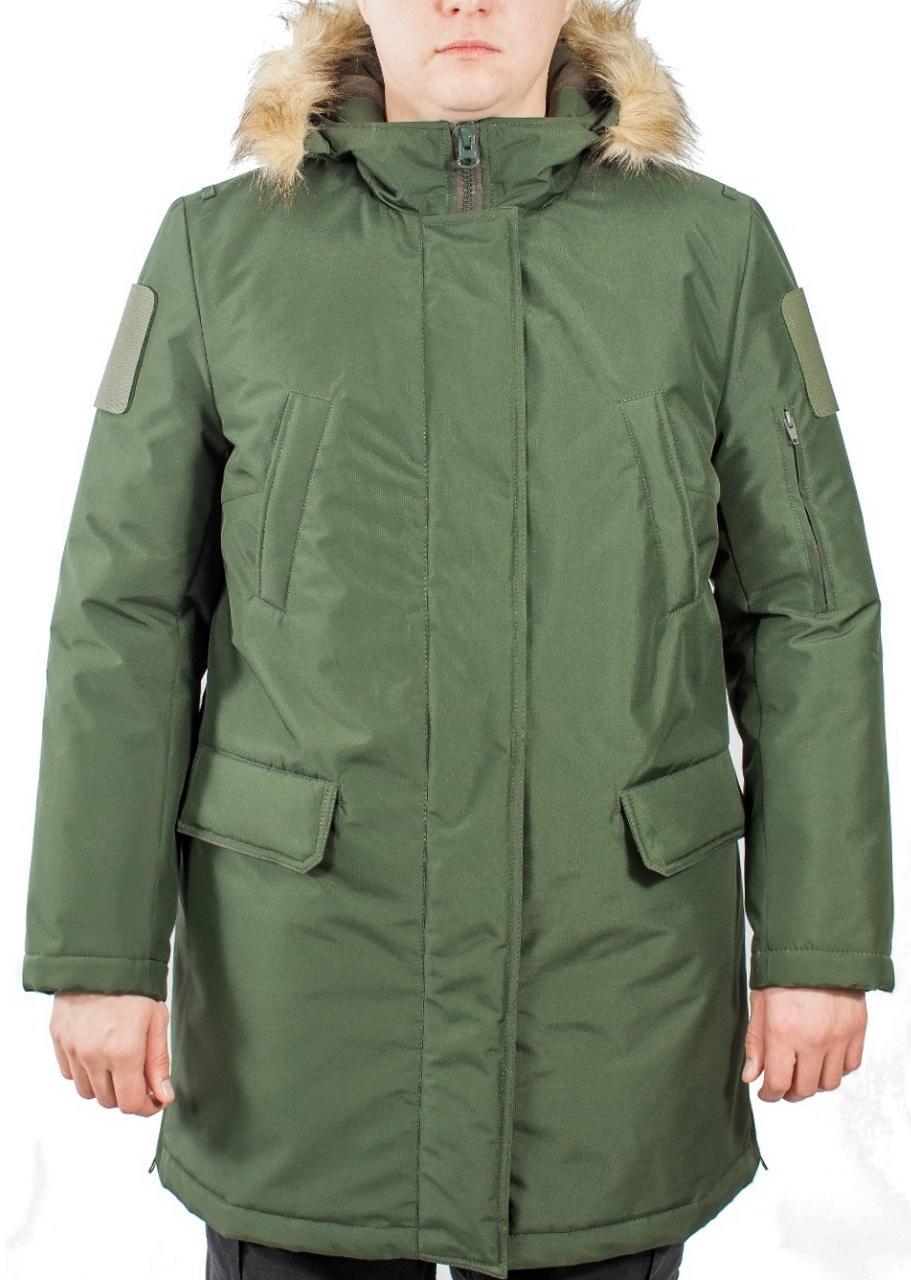 Куртка аляска (ткань рип-стоп мембрана) под офисную форму зеленая