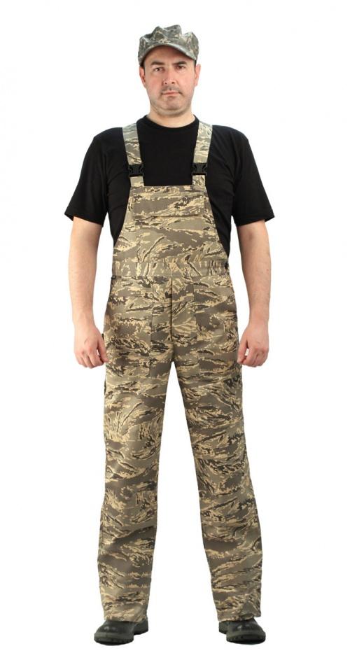 Полукомбинезон мужской Дрегер, камуфляж, ткань грета Серый легион