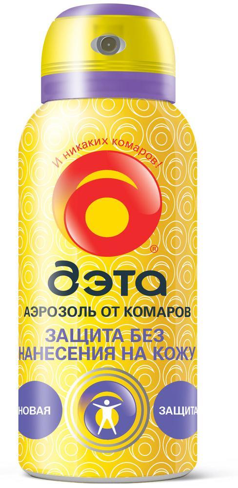 ДЭТА Аэрозоль от комаров Защита без нанесения на кожу 100мл./12