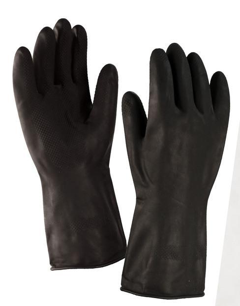 Перчатки резиновые технические КЩС-1
