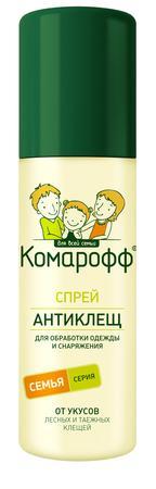 КОМАРОФФ АНТИКЛЕЩ Спрей 125мл./18