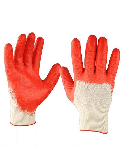 Перчатки трикотажные х/б, люкс, ладонь латекс (13 кл./5 нитка)