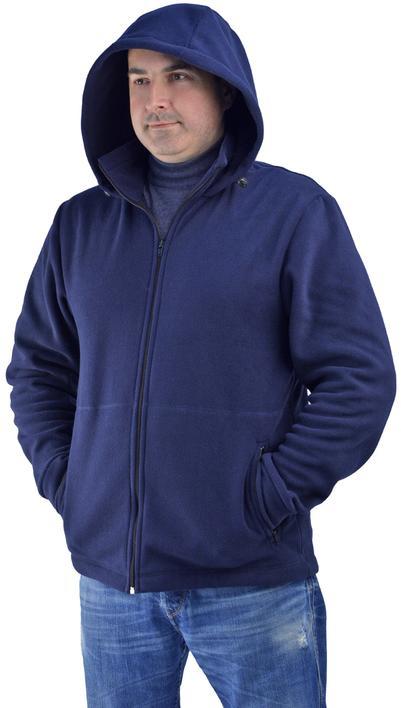 Куртка флисовая УНИВЕРСАЛ т.-синяя