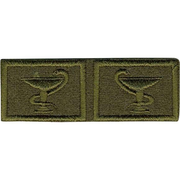 Эмблема петличная Медицинская служба нового образца полевая выши
