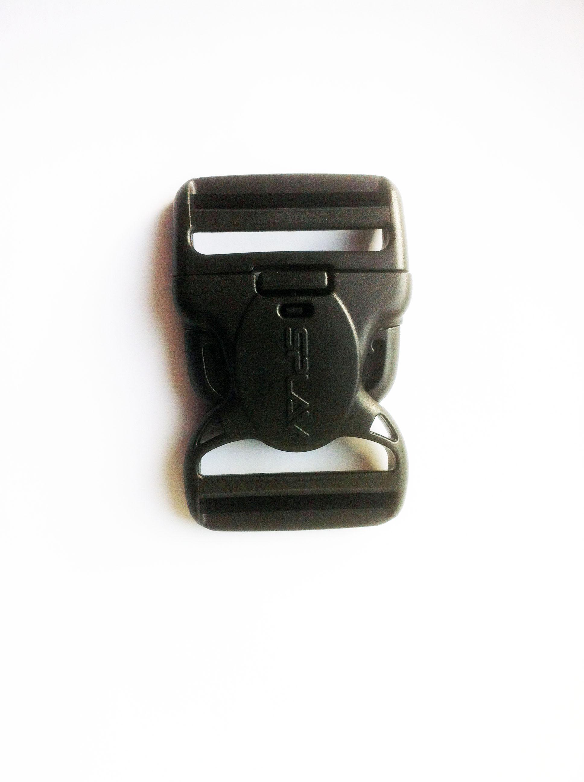 Пряжка фастекс с замком 50 мм 1-21120/1-20120 (2 части) две регулировки
